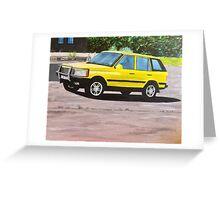'Layer Cake' Range Rover Greeting Card