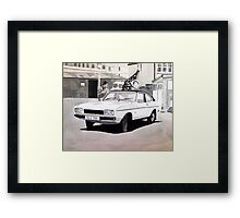 'Minder' Mk.2 Ford Capri 2.0s Framed Print