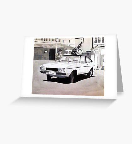 'Minder' Mk.2 Ford Capri 2.0s Greeting Card
