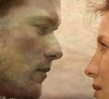 Jamie and Claire Outlander Je suis prest Sticker