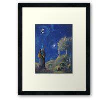 Hobbiton Christmas Eve Framed Print
