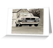 'The Professionals' Mk.3 Ford Capri 3.0s Greeting Card