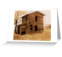 Vintage house Greeting Card