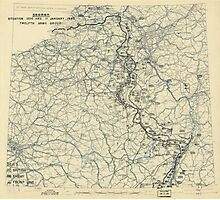 January 17 1945 World War II HQ Twelfth Army Group situation map Photographic Print