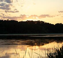 Sunset Reflection on Pond by ishotit4u