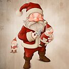 Santa Claus and mechanical doll by jordygraph