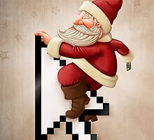 Santa Claus and shopping on-line by jordygraph
