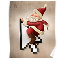 Santa Claus and shopping on-line Poster