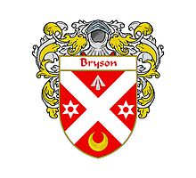 Bryson Coat of Arms/Family Crest Photographic Print