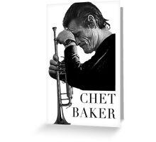 """Chet """"melancholic"""" Baker Greeting Card"""