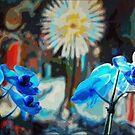 Blue Orchid by Diane  Kramer