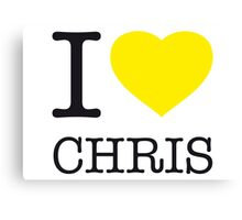 I ♥ CHRIS Canvas Print