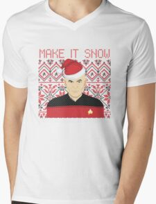 Trekky Xmas Mens V-Neck T-Shirt