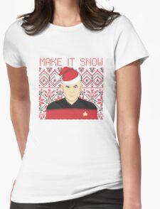Trekky Xmas Womens Fitted T-Shirt