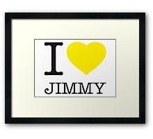 I ♥ JIMMY Framed Print