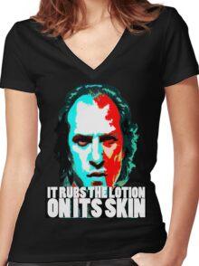 Buffalo Bill-shirt-Updated Women's Fitted V-Neck T-Shirt