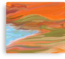 Very abstract beach Canvas Print
