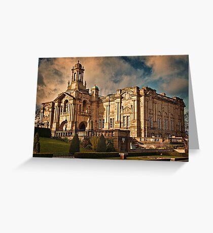 Evening Light at Cartwright Hall Greeting Card