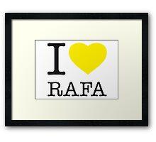 I ♥ RAFA Framed Print