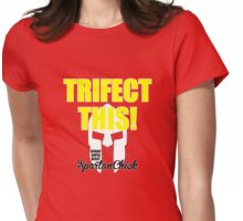 Trifect This! Spartan Chick Womens Fitted T-Shirt