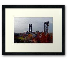 Chicago - Vertical Lift Bridge Framed Print