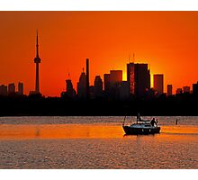 Sunset Sail Ashbridges Bay Toronto Canada Photographic Print