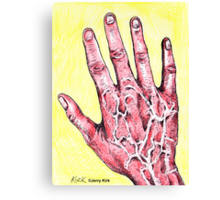 'MY RED RIGHT HAND'  Canvas Print