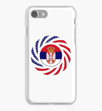 Serbian American Multinational Patriot Flag Series iPhone Case/Skin