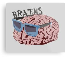 Cool Brains Metal Print