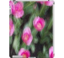 Pink Flowers in Motion iPad Case/Skin
