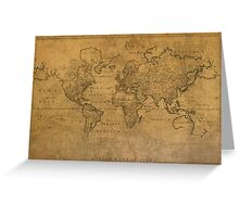 Map of the World 1784 Greeting Card