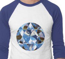 Swiss Alps Abstract Geometric Graphic Men's Baseball ¾ T-Shirt