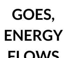 TONY ROBBINS QUOTE: WHERE  FOCUS  GOES,  ENERGY FLOWS Sticker