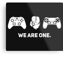 We Are One - White Metal Print