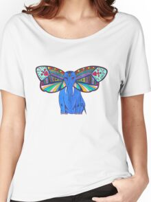 Elephant Butterfly  Women's Relaxed Fit T-Shirt