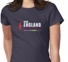 New England Spartan Chick red/blue Womens Fitted T-Shirt