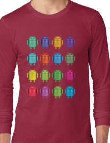 Android Andy Warhol color effect style Long Sleeve T-Shirt