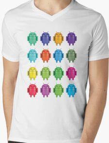 Android Andy Warhol color effect style Mens V-Neck T-Shirt