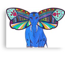 Elephant Butterfly  Canvas Print