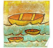 Three Boats Poster