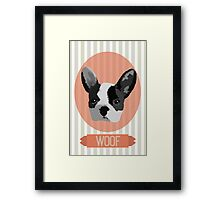 The French Bulldog Says Woof. Framed Print