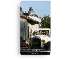 Car rally, Verteuil sur Charente Canvas Print