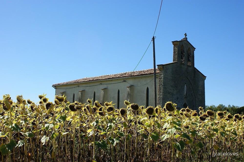 Sunflower church by graceloves