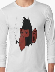 Smoking Monkey Long Sleeve T-Shirt