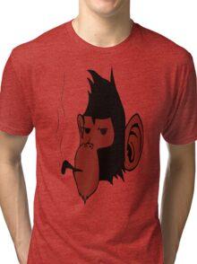 Smoking Monkey Tri-blend T-Shirt
