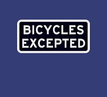 Bicycles Excepted Womens Fitted T-Shirt