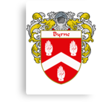 Byrne Coat of Arms/Family Crest Canvas Print