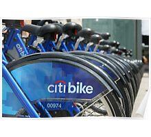 Bike rack New York Poster