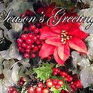 """""""Frosty Red Poinsettias"""" (Season's Greetings) by Steve Farr"""