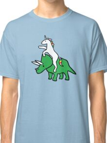 Unicorn Riding Triceratops Classic T-Shirt